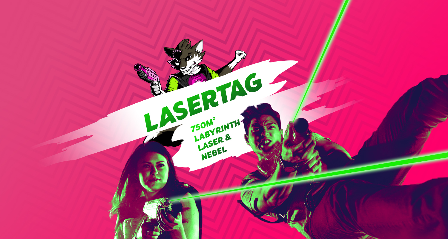 Headerbild Black Fox World - Lasertag