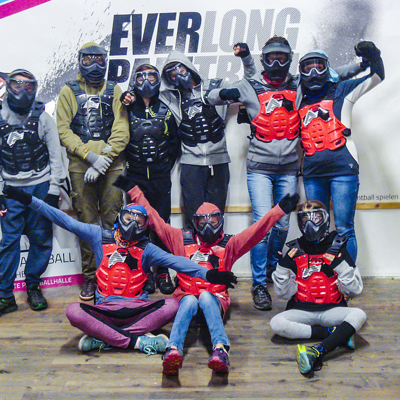 Kindergruppe beim Softpaintball