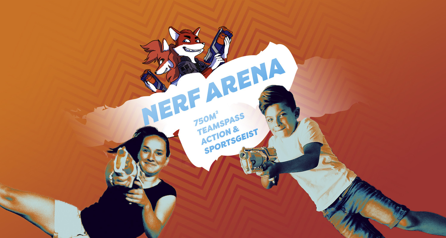 Headerbild Black Fox World - Nerf-Arena